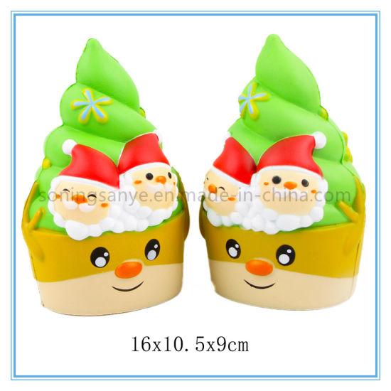 DTY0103 PU Foam Santa Claus Squishy Slow Rising Toys