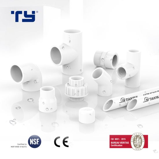 Plastic Pipe Supply System All Size Sch 40 PVC Pipe Fitting