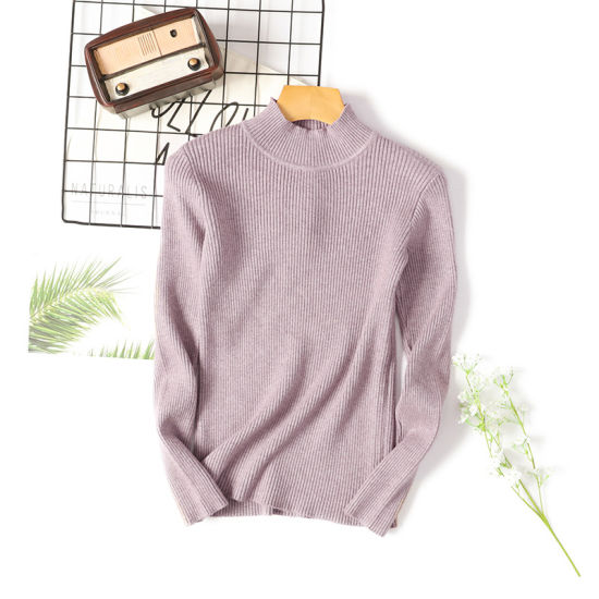 Fashion Women Long Sleeve Clothes Round Neck Women's Girl Knitted Pullover Sweaters
