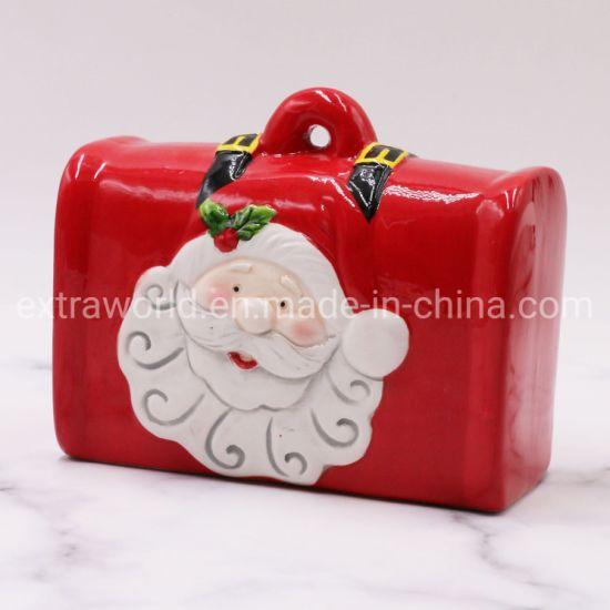 Christmas Crafts Gift Ceramic ATM Coin Bank Money Luggage Saving Box
