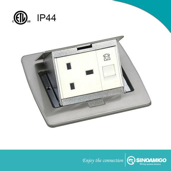 IP44 Rj Power Receptacle Standard Floor Socket Box