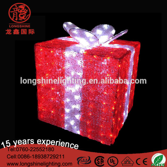 LED 3D Motify Gift Box Decorative Light for Holiday Christmas Outdoor Indoor Decoration