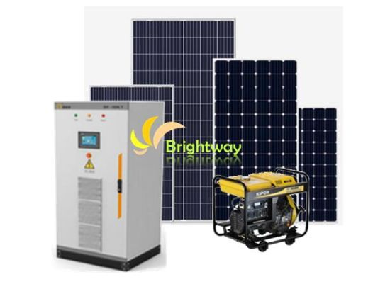 China 5kw Solar Diesel Generation Hybrid Off Grid Power System China System 5kw