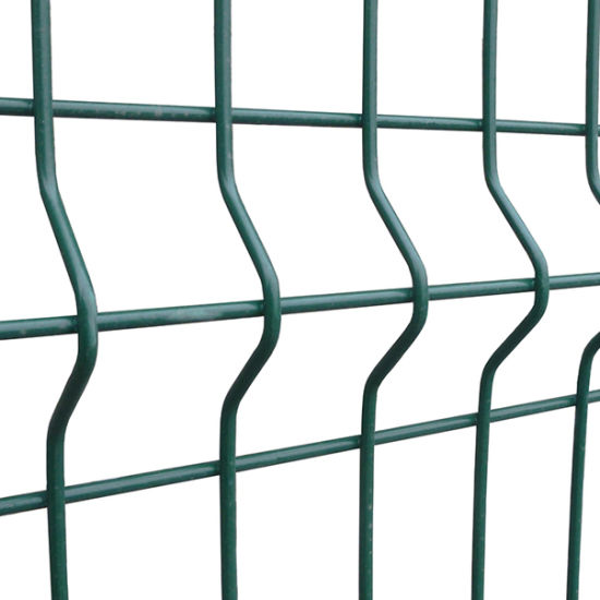 China Green Powder Coated Wire Meh Fence Panel/Wire Mesh Panel ...