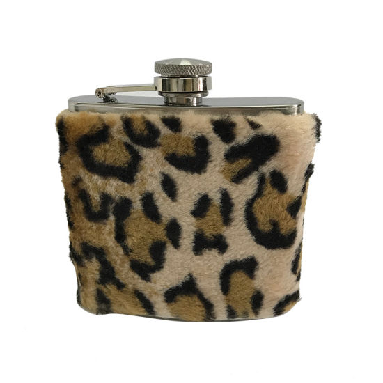 Special Artificial Wool Wrapped Stainless Steel Hip Flask for Promotional pictures & photos
