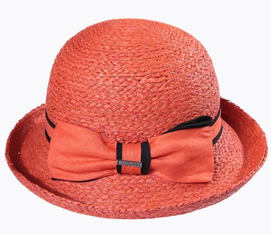 Fashion Leisure Lady Straw Bucket Sun Hats pictures & photos