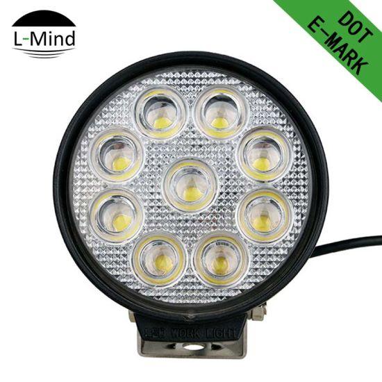 China Factory Wholesale IP68 LED Spot Light 27W 10-30V Super Bright LED Work Light