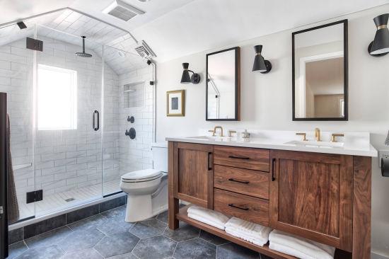 Project Modern Design Solid Wood Shaker Style Vanity Bathroom Cabinet
