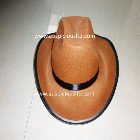 Brown Color Cowboy Hat with Five-Pointed Star