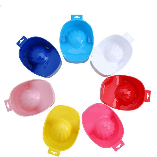 Plastic Hand Wash Gel Nail Art Care Soak Bowl