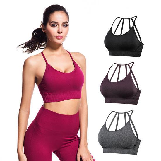 Custom Women's Fitness Yoga Gym Bras Energy Seamless Sports Bra