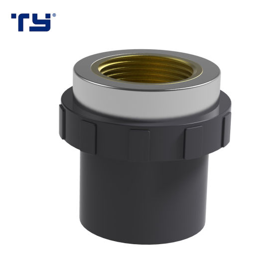 PVC ASTM Sch80 Pipe Fittings Female Adapter (BRASS) Water Supply ASTM Sch80
