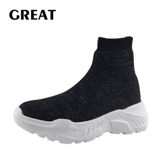 Greatshoe 2019 Wholesale Lady Leisure Footwear Custom Lady Shoes Casual Lady Sneaker Shoes Flyknit