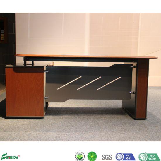 Boss Office Desk With Metal Leg L Shape