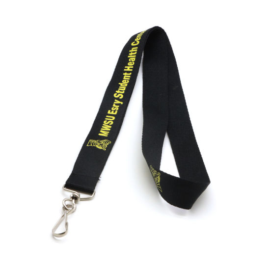 Nylon Material and Custom Logo Nylon Lanyard with Leather Card Holder pictures & photos