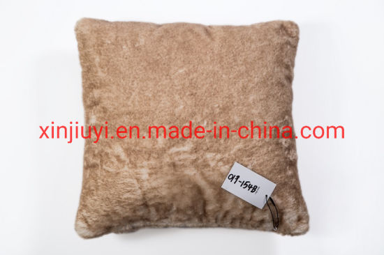 New Design Color Fading Printed Rabbit Fur Pillows Faux Fur Cushions China Faux Fur And Cushions Price Made In China Com