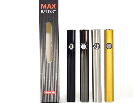 Bottom Charger USB Pass Through 510 Cbd Oil E Cigarette Vape Pen Variable Voltage Preheating Style Push Button O Pen Vape Pen Vaporizer Max Preheat Battery