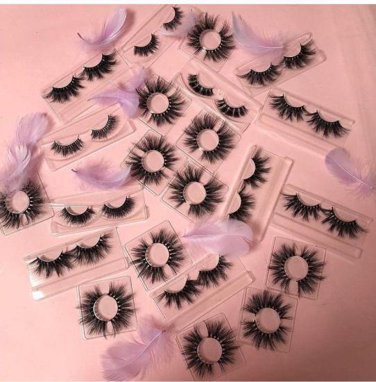 Mink Lashes Private Label Faux Mink Eyelashes False Eyelashes with Custom Eyelash Packaging