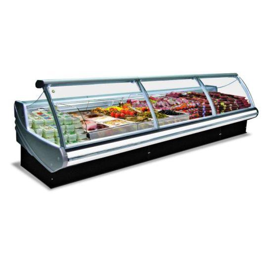 High Quality Fan Cooling Deli Case Refrigerator Butchery Display Freezer