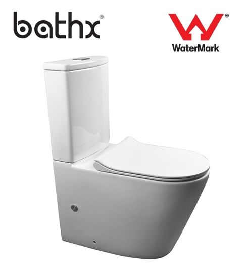 Hot Selling Back to Wall Space Saving Sanitary Ware Ceramic Luxury Toilet (PL-6180)