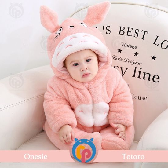 Wholesale Winter Thick Animal Cartoon Super Soft & Warm Full Sleeve Baby Romper