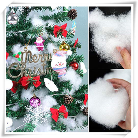White Polyester Soft Fluff Pull Snow Christmas Decorating