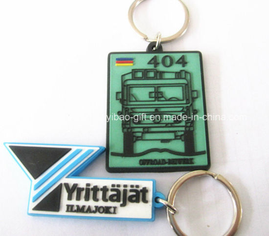 Promotion Gift Keychain with Keyring Custom Embossed 2D / 3D Soft PVC Plastic Type Keychain Asturias PVC Cow Rubber Keychains