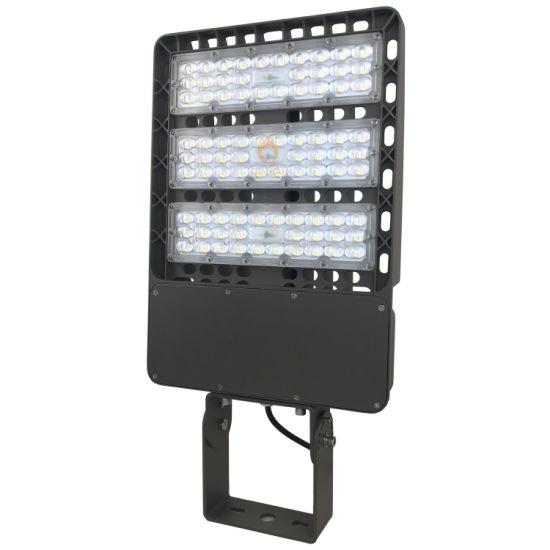 150lm/W 100W-300W Adjustable Waterproof LED Parking Lot Shoebox Street Light for Outdoor Park Lot Garden Yard Main Road Highway Lighting with Photocell PLC