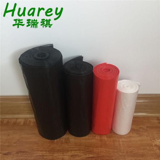 HDPE/LDPE Star Sealed Plastic Garbage Trash Refuse Sacks Wholesale Black Garbage Bag Manufacturer