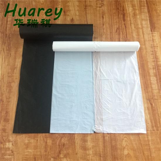 China Factory Disposableldpe HDPE Black Garbage Packaging Plastic Bag
