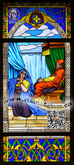 Art Stained Glass Church Windows & Panels Hannah Prayer