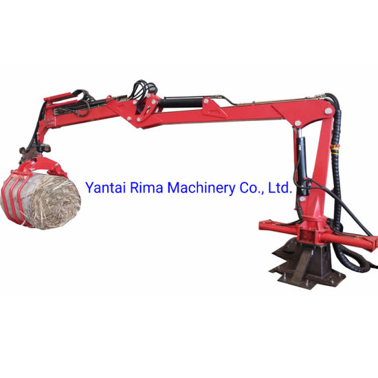 Hydraulic Timber Crane with Telescope Boom and Rotating Grapple