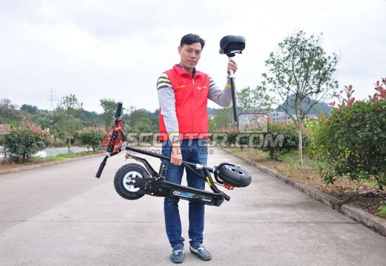 2 Wheels 500W 36V Lithium Brushless EEC Approved Electric Scooter pictures & photos