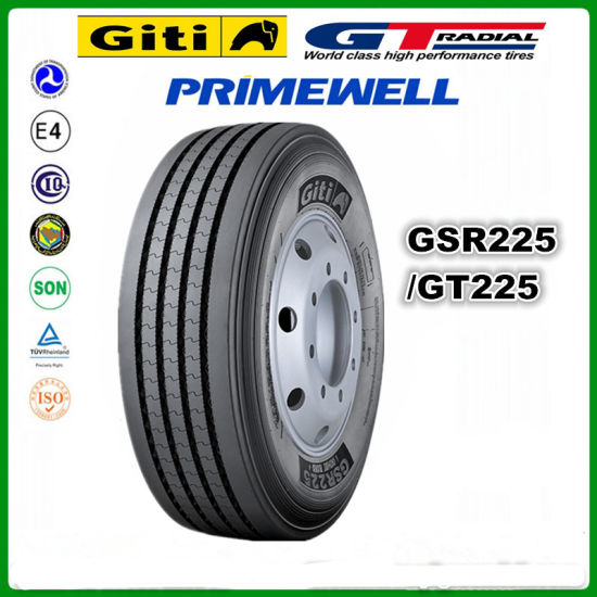 Giti/ Gt Radial / Primewell /Doublecoin/Trianlge / Linglong / Chengshan Radial Truck Tires 12r22.5 12 22.5 12 R22.5 Gsr225 Commercial Truck and Bus Tires