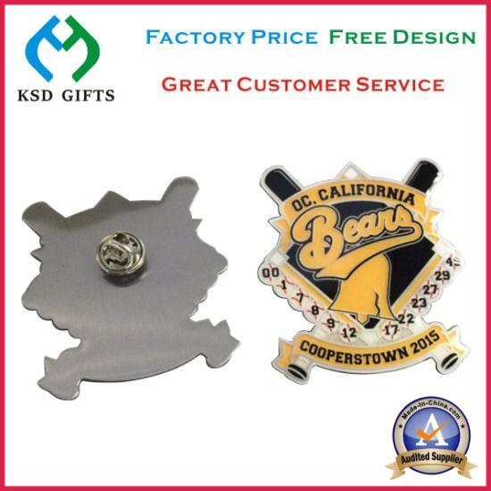 Metal Promotion Items Stainless Steel Printed Lapel Pins (KSD-1136)