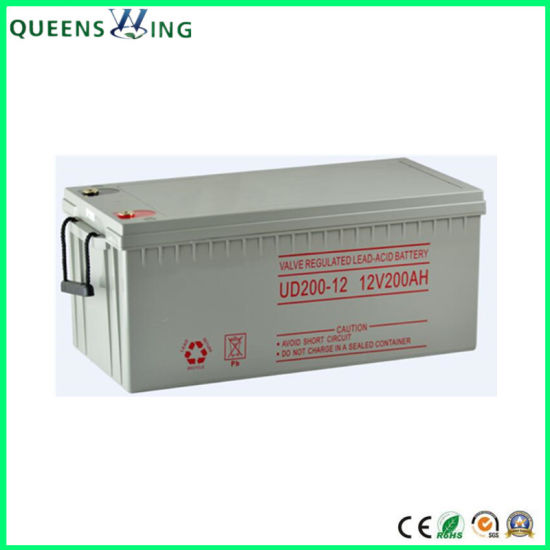 200A Lead-Acid Battery 12V Rechargeable Solar Gel Battery (QW-GEL200) pictures & photos