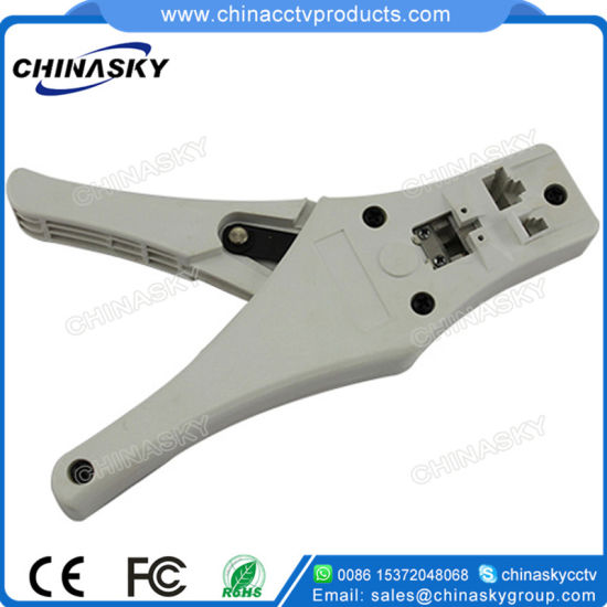 RJ45/11 Modular Crimping Tool with Cable Stripper Wire Cutter (T5376) pictures & photos