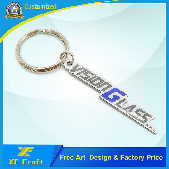Factory Price Customized Metal Both Side Epoxy Souvenir Key Ring for Jesus Gospel (XF-KC10) pictures & photos