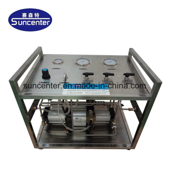 Suncenter Model: 32bar Portable Air Driven Hydro Booster Station for  Pressure Testing