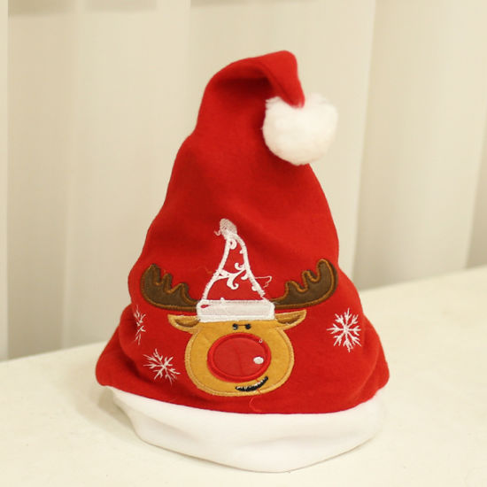 Xmas Wholesale Cartoon Plush Christmas Children Hat Baby/Kids/Adult Small Mini Cap Santa Claus Hat