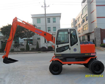 6ton Mini Bucket Excavator Wheel Digger for Sale pictures & photos