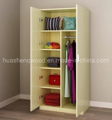 Chipboard Melamine Low Cost Mini 1 Door Wardrobe with Shelves