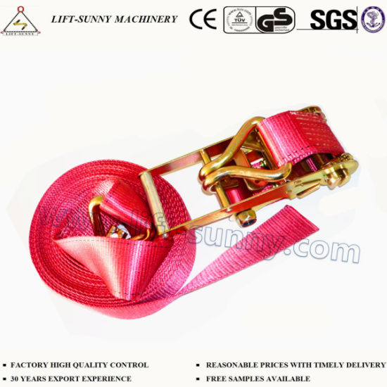 En12195 2 3ton Heavy Cargo Lashing Ratchet Tie Down Straps China Ratchet Strap Ratchet Buckle Made In China Com