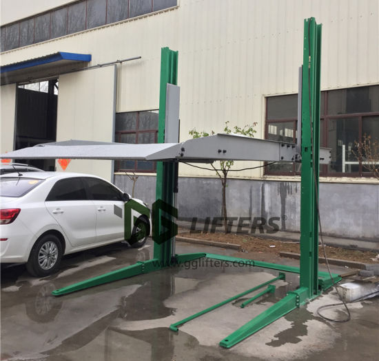 hydraulic stacker parking 2 post car lift for sale