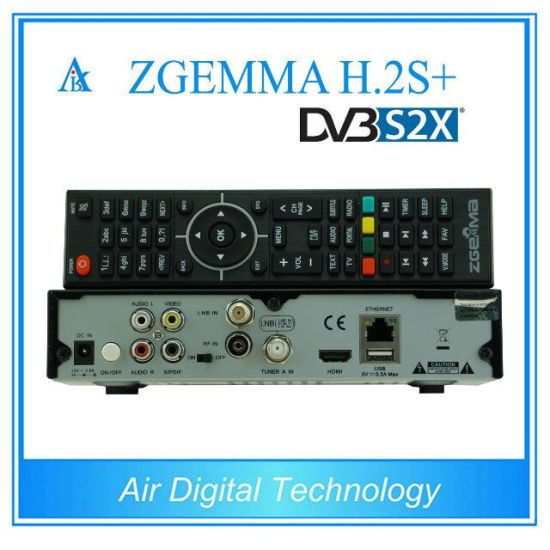 2017 New Smart Satellite Receiver&Decoder Zgemma H. 2s Plus Linux OS E2 DVB-S2+DVB-S2/S2X/T2/C Triple Tuners pictures & photos