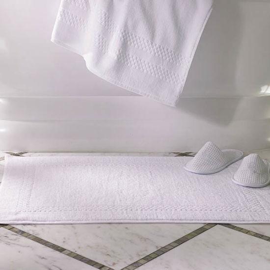 Luxury 5star Hotel White Terry Bath Mat Bathroom Linen