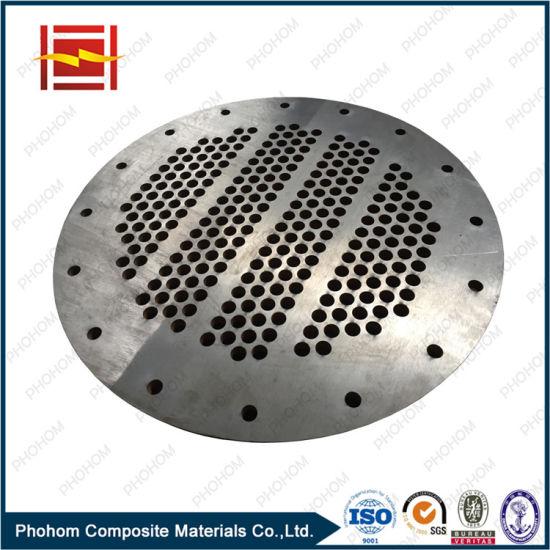 Titanium Steel Bimetal Sheet Tube Sheet Heat Exchanger Pressure Vessel Corssion Resistance Plate