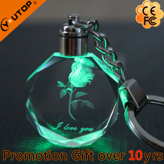 Hot 3D Luxury Glass Crystal Keychain Gifts (YT-3271) pictures & photos