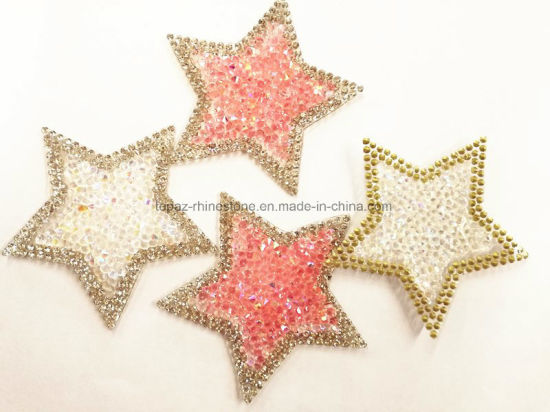 Heat Transfer Star Rhinestone Sheets Shoes Transfers Applique (TS-Star 6.5cm) pictures & photos