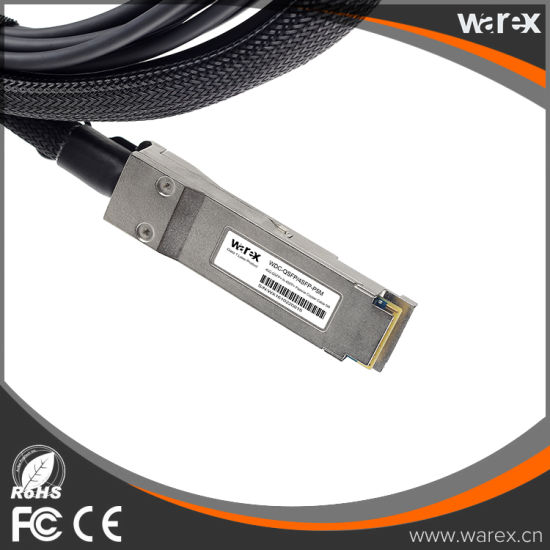 Fiber Cable Compatible 40GBASE-CR4 QSFP to 4 10GBASE-CU Direct Attach Copper Breakout Cable 5M pictures & photos